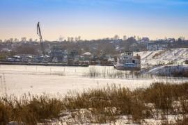 Муром. Речная флотилия на зимовке