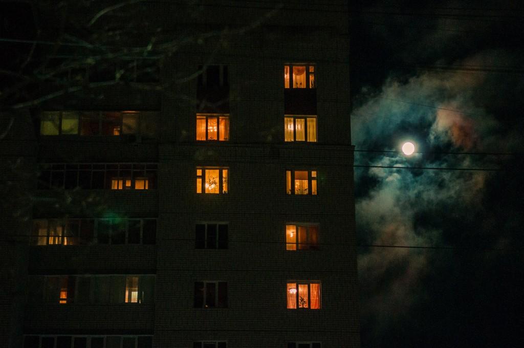 Полнолуние и и гало вокруг Луны (пятница) 06