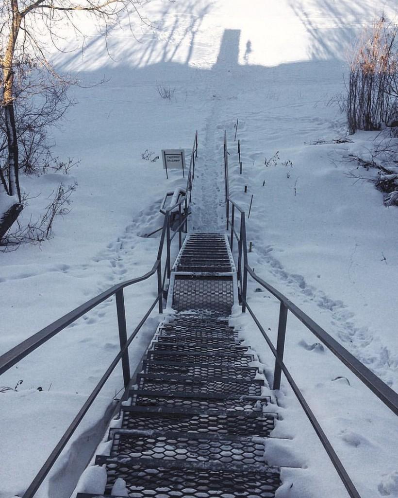 Прогулка по замёрзшей Клязьме