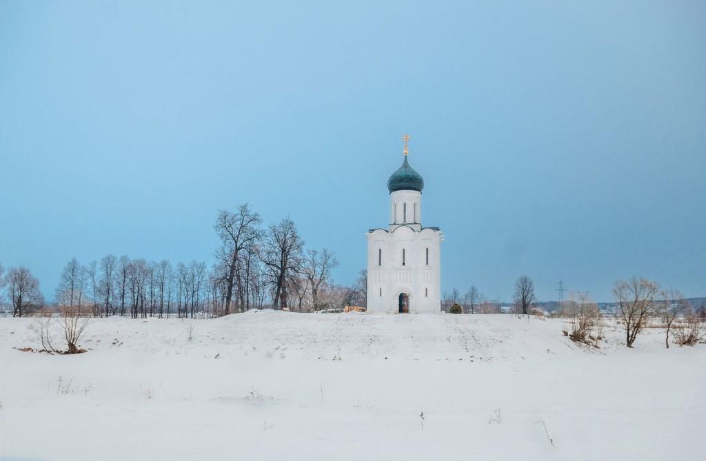Февральское. Церковь Покрова На Нерли 07
