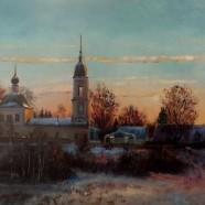 Церковь Успения Пресвятой Богородицы. Дмитриевский Погост близ с. Литвиново. Рассвет