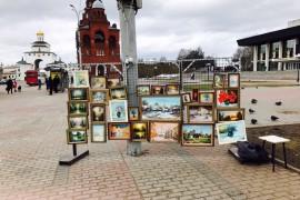 Великолепные картины владимирских художников на театральной!