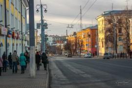 Воскресный вечер на улицах города. Владимир ул Гагарина