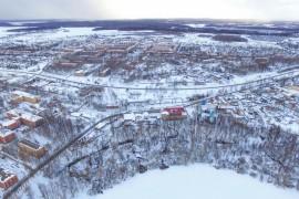 Город Карабаново, Владимирская область, вид сверху
