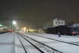 Железнодорожный вокзал в Муроме, 27 февраля 2017, раннее утро