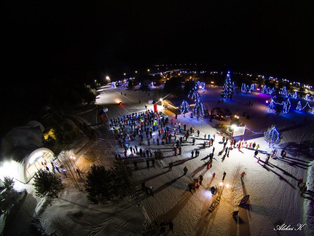 Зимний Гудвилл с высоты 01