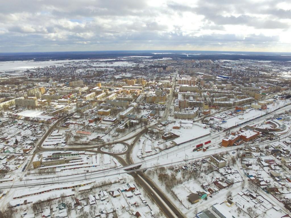 Зимний снимок г. Александров с высоты птичьего полета 01