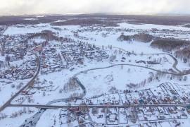 Красивый изгиб реки Серой в Карабаново