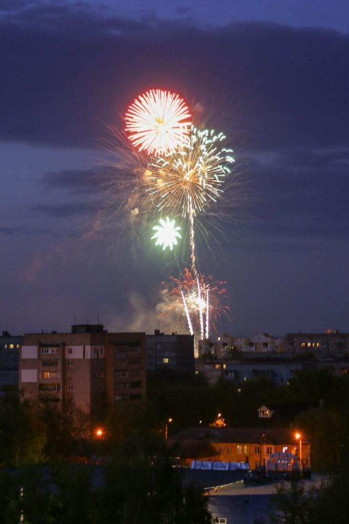 Ночной Муром с крыши элеватора 03