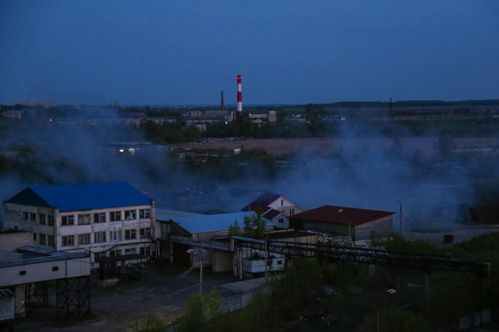Ночной Муром с крыши элеватора 05