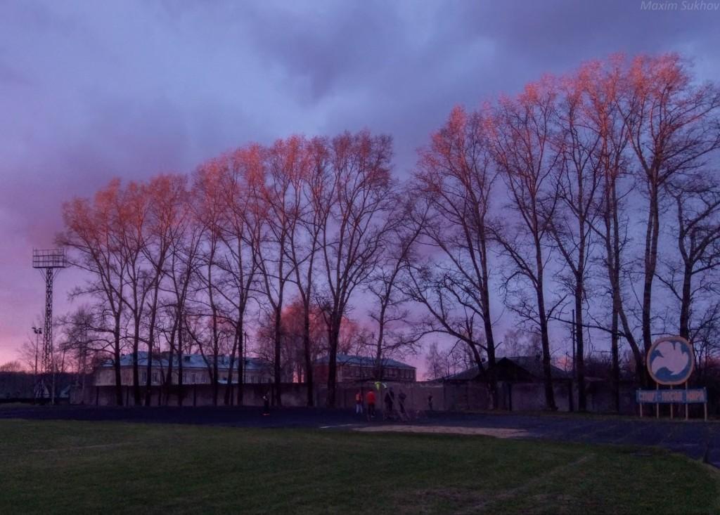 Красивейший закат в г.Вязники. Небо пылало красками! 02