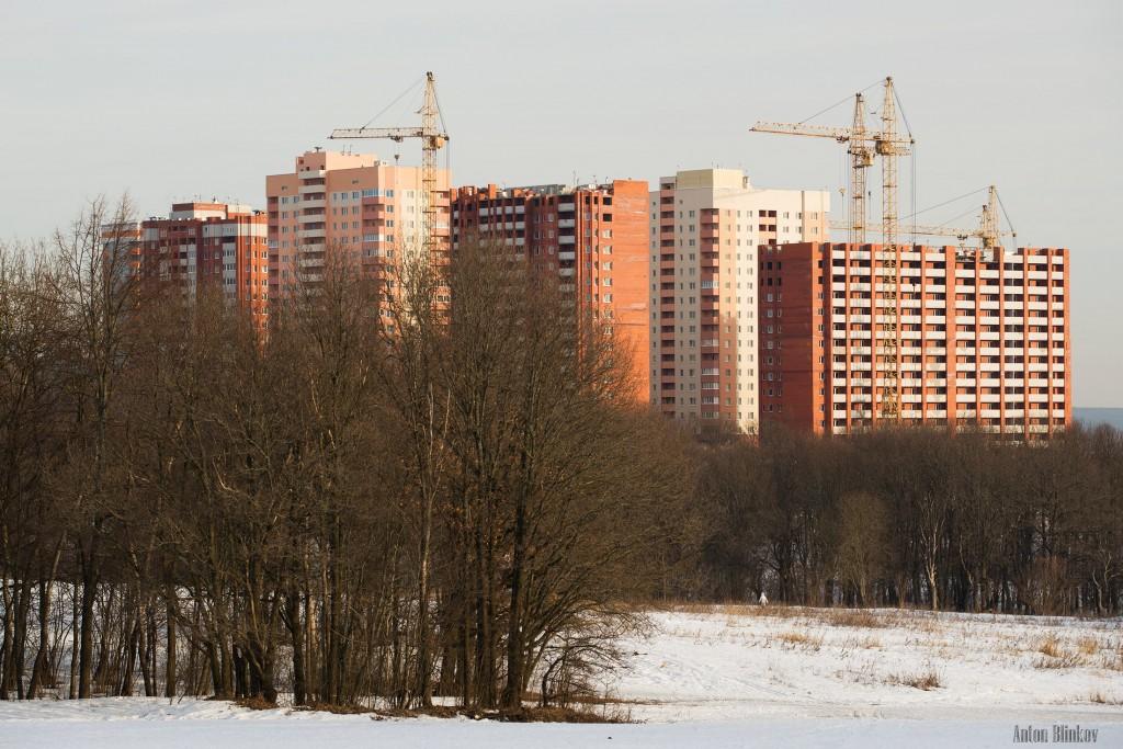 Новые жилые многоэтажные дома во Владимире