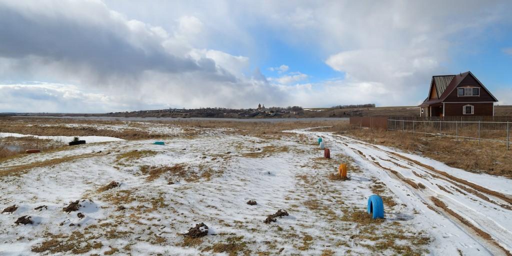 Окраина деревни Раменье. На другом берегу Нерли виднеется село Васильково, Суздальский р-н