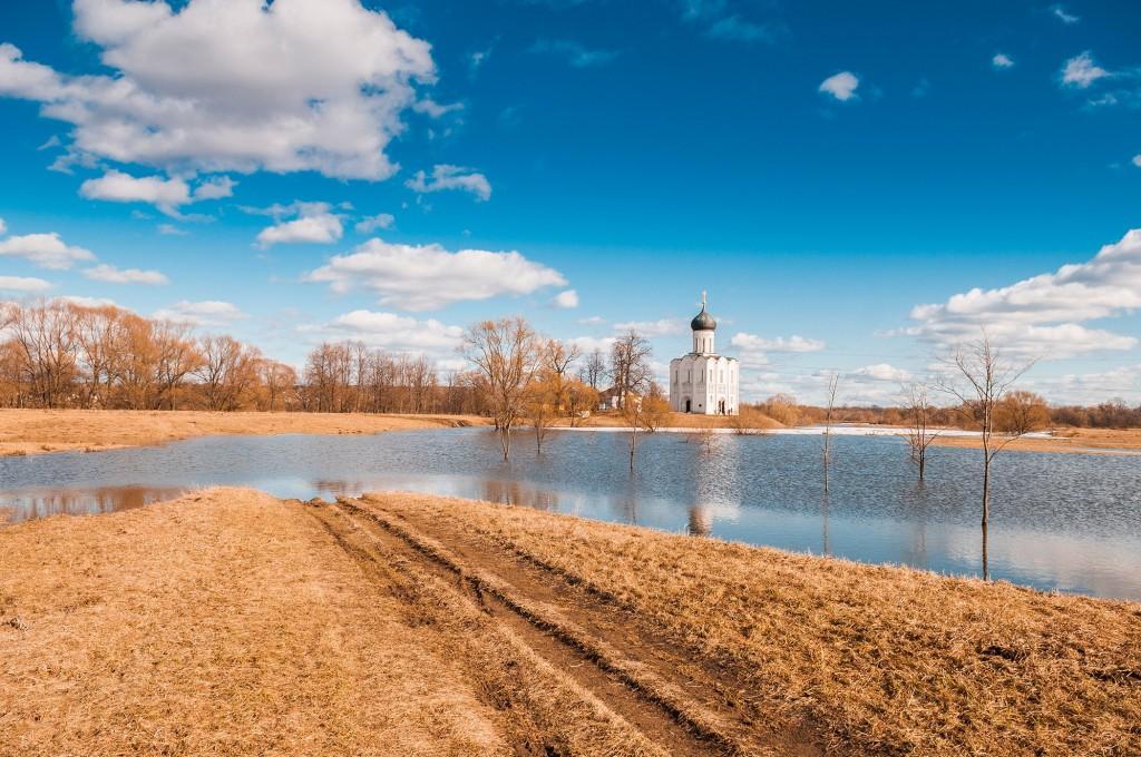 Солнечное Покрова-на-Нерли (конец марта) 10