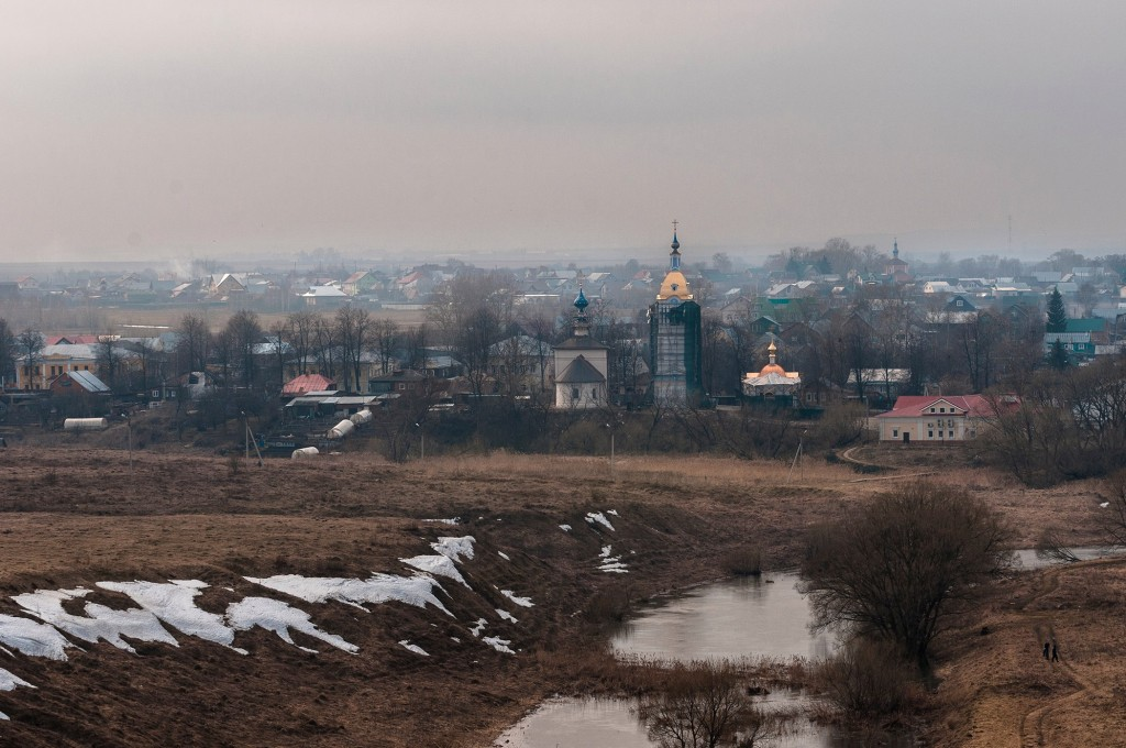 Суздаль и Михайлова Сторона, пасмурно, апрель 10
