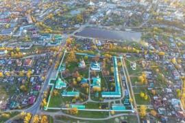 Александров Владимирской области во время заката