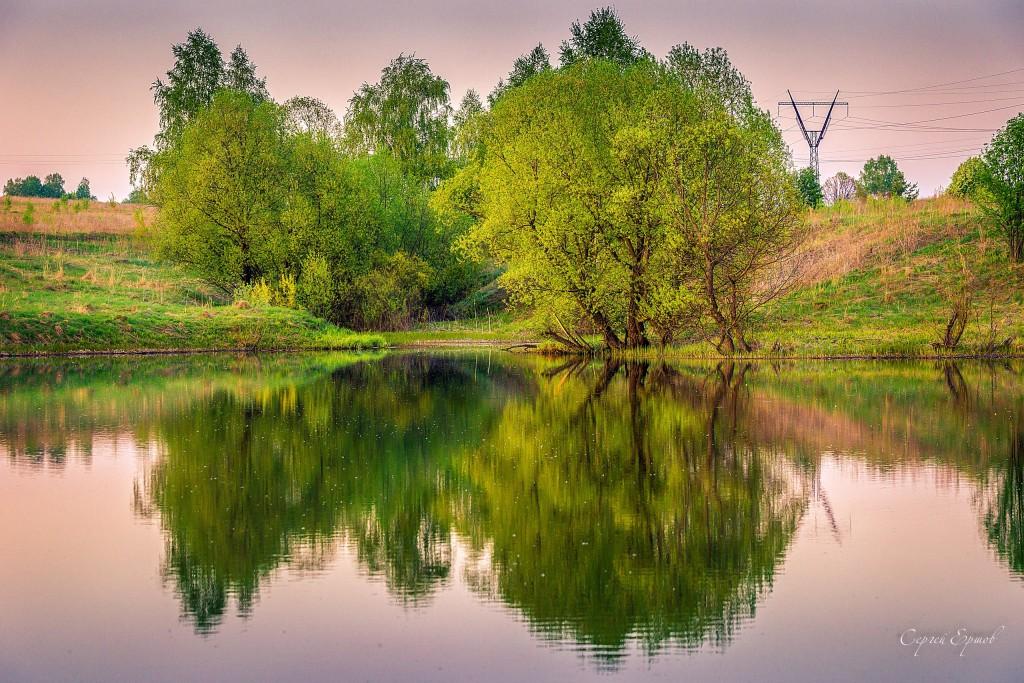 Весенний вечер в окрестностях Владимира. Водохранилище Спасское
