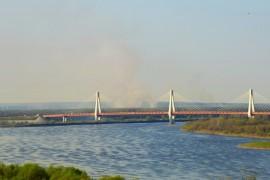 Весна в Муроме. Мост через реку Ока