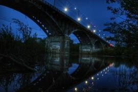 Вечерний мост через Клязьму