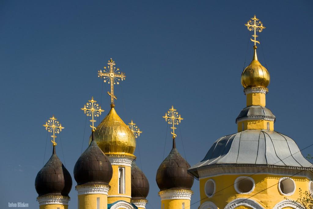 Муром. Купола церкви Николая Чудотворца (Николо-Набережная)