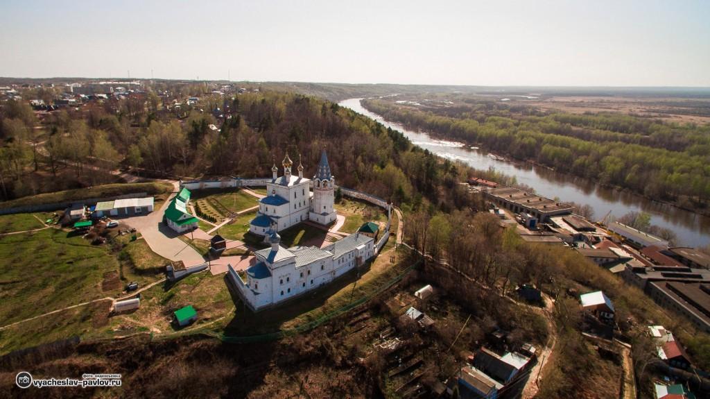 Никольский Гороховецкий мужской монастырь (аэросъемка)