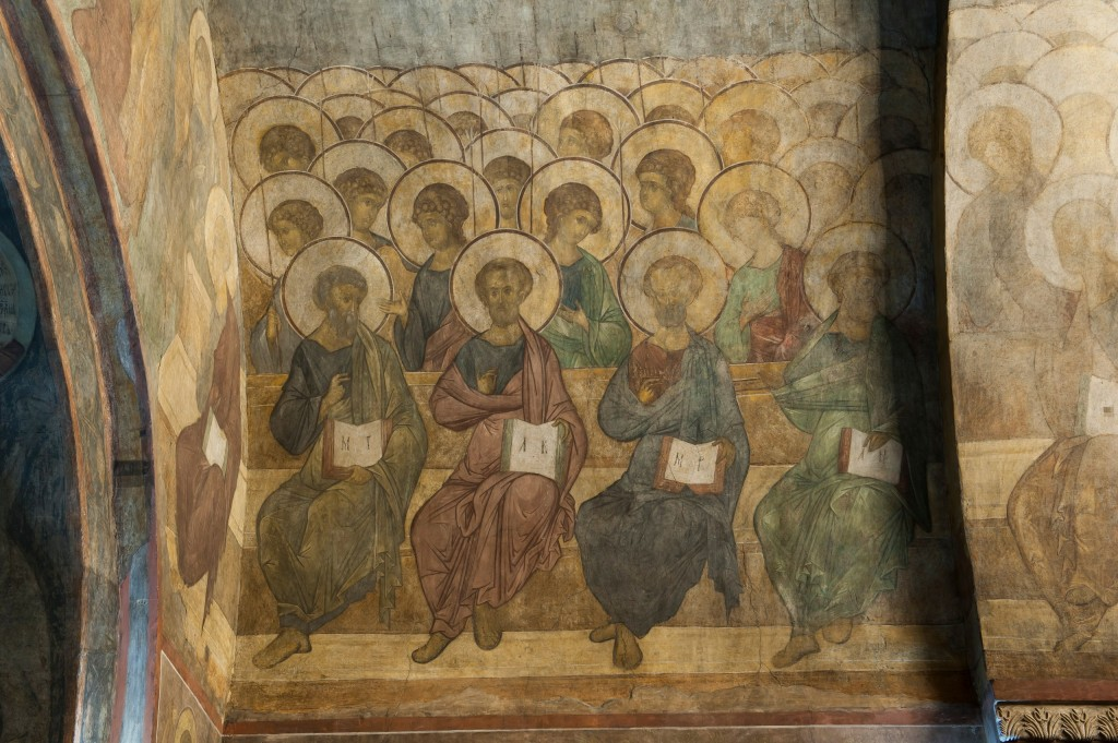 Обновленные фрески в Успенском соборе