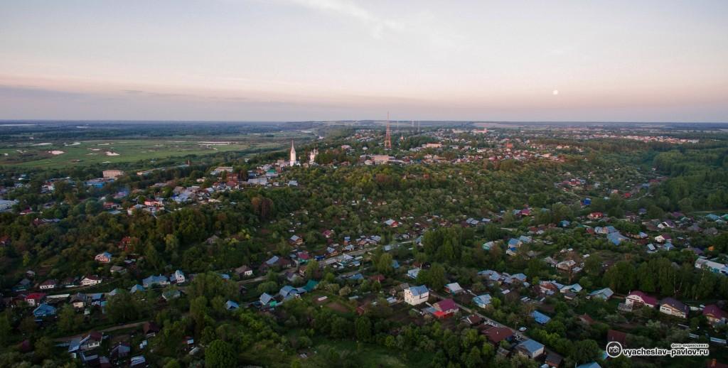 Панорама вечерних Вязников с высоты