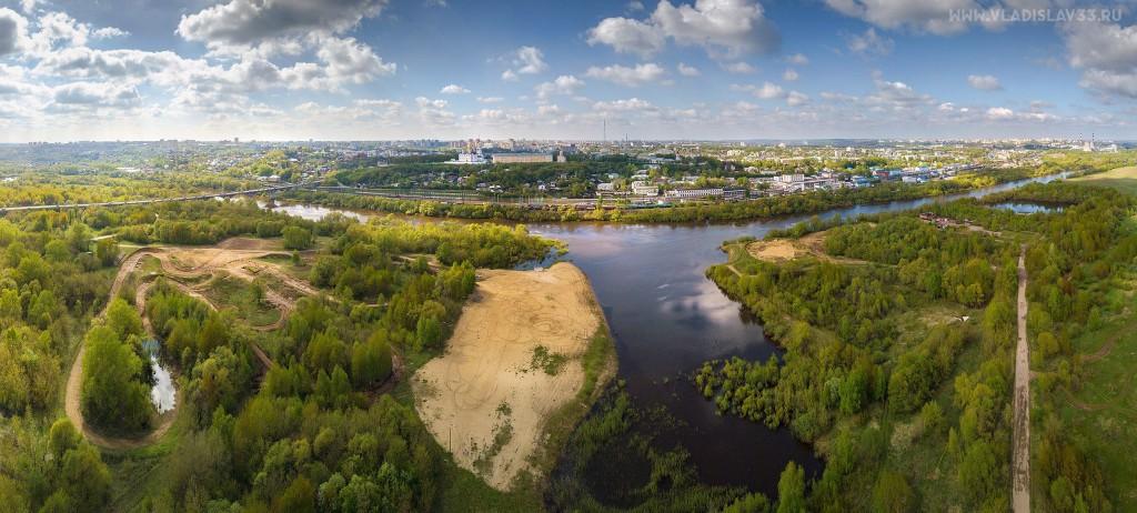 Солнечная весна во Владимире с высоты 03