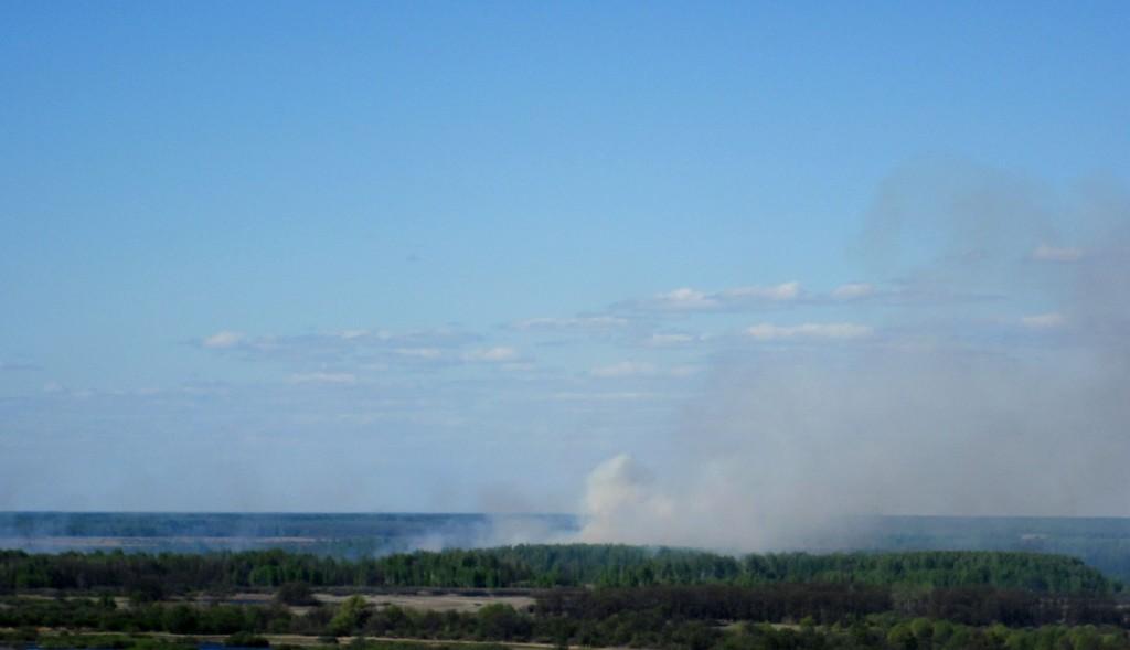 Травяной пожар за Клязьмой около Вязников 01