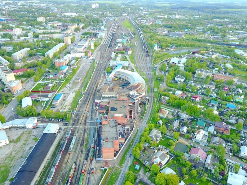 Железнодорожная станция Александров-1 Московской железной дороги