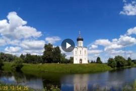 Храм Покрова на Нерли (29 июня 2017). Тайм-лапс.