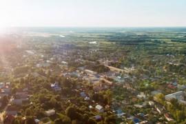 Вязники — панорама центра города на закате