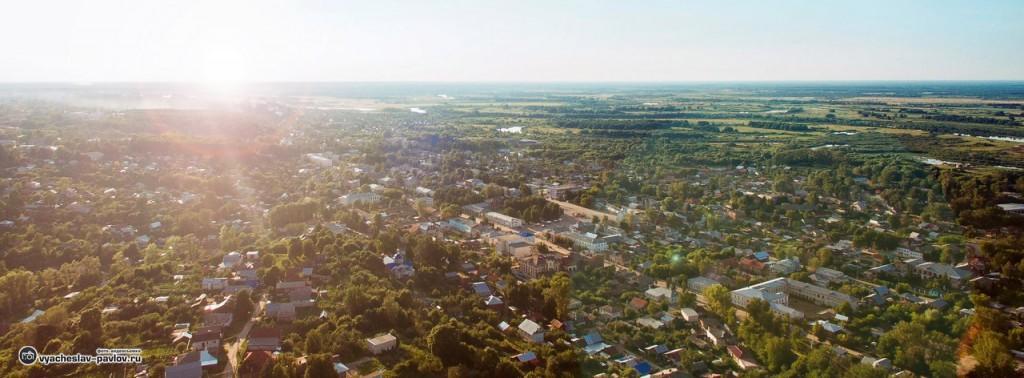 Вязники - панорама центра города на закате