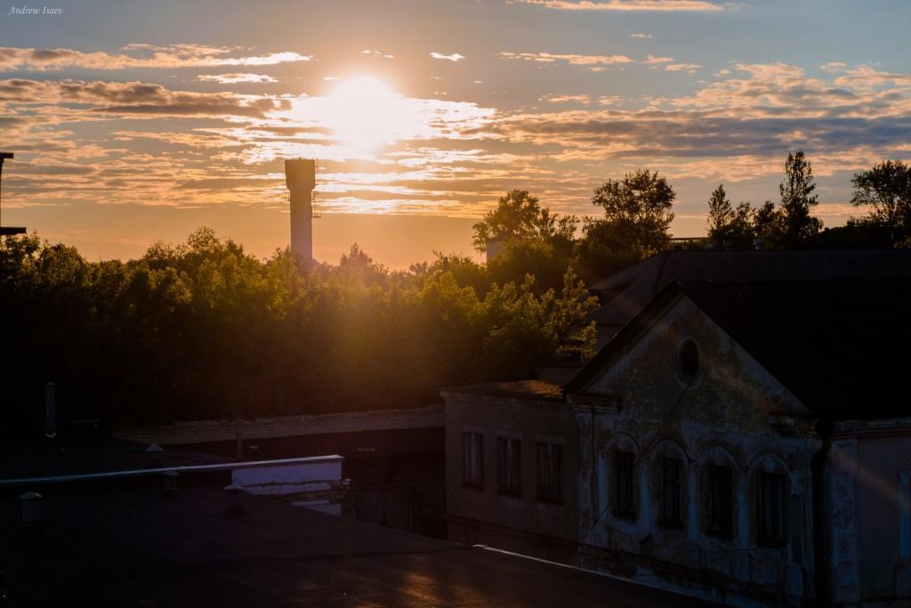 Летний закат над Муромом