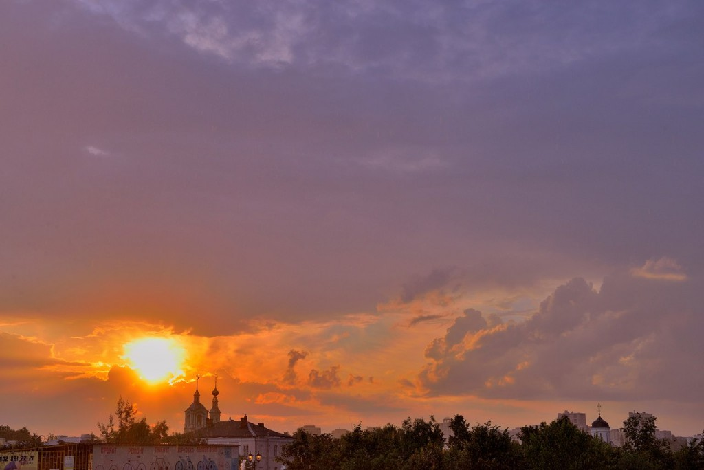 Мгновения июльского заката во Владимире 08