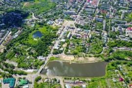 Парк культуры и отдыха, Советская площадь и река Серая в Александрове
