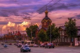 Апельсиновые закаты во Владимире (август 2017)