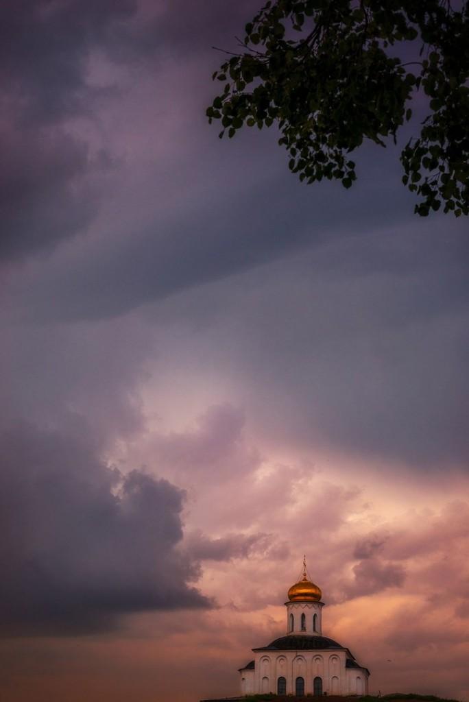 Апельсиновые закаты во Владимире (август 2017) 03