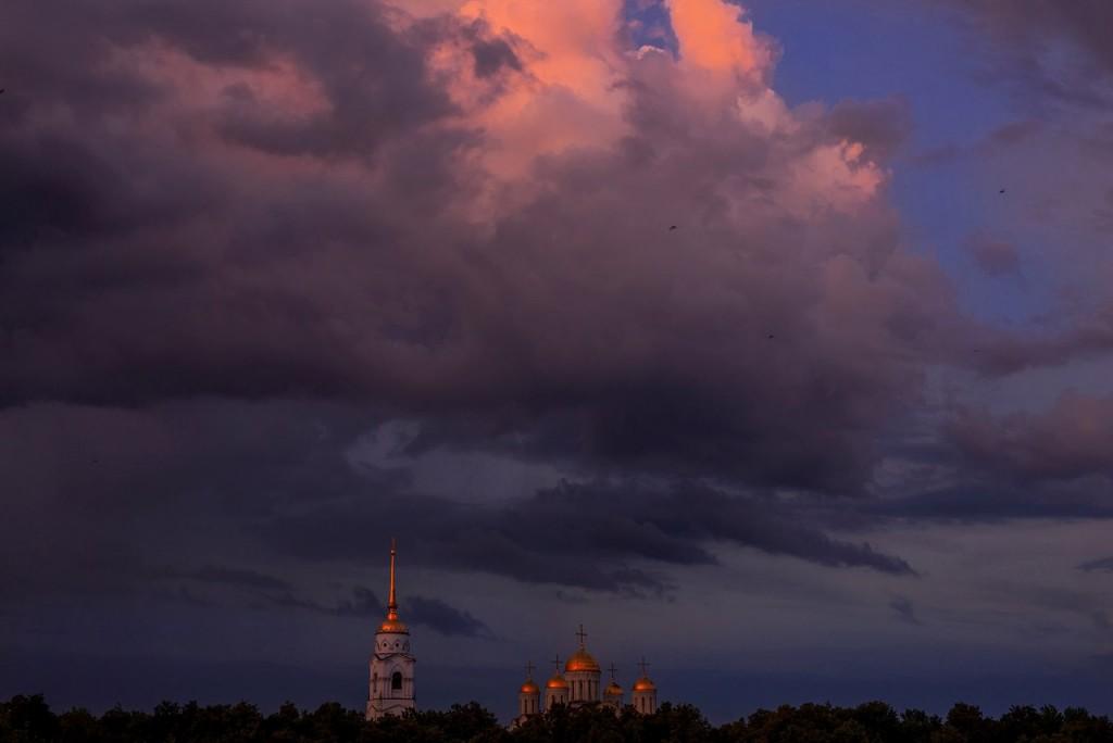 Апельсиновые закаты во Владимире (август 2017) 04