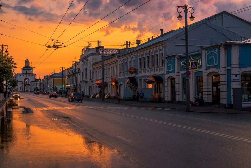 Апельсиновые закаты во Владимире (август 2017) 05