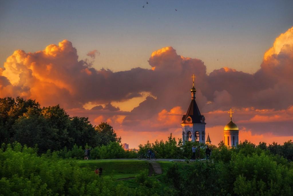 Апельсиновые закаты во Владимире (август 2017) 06