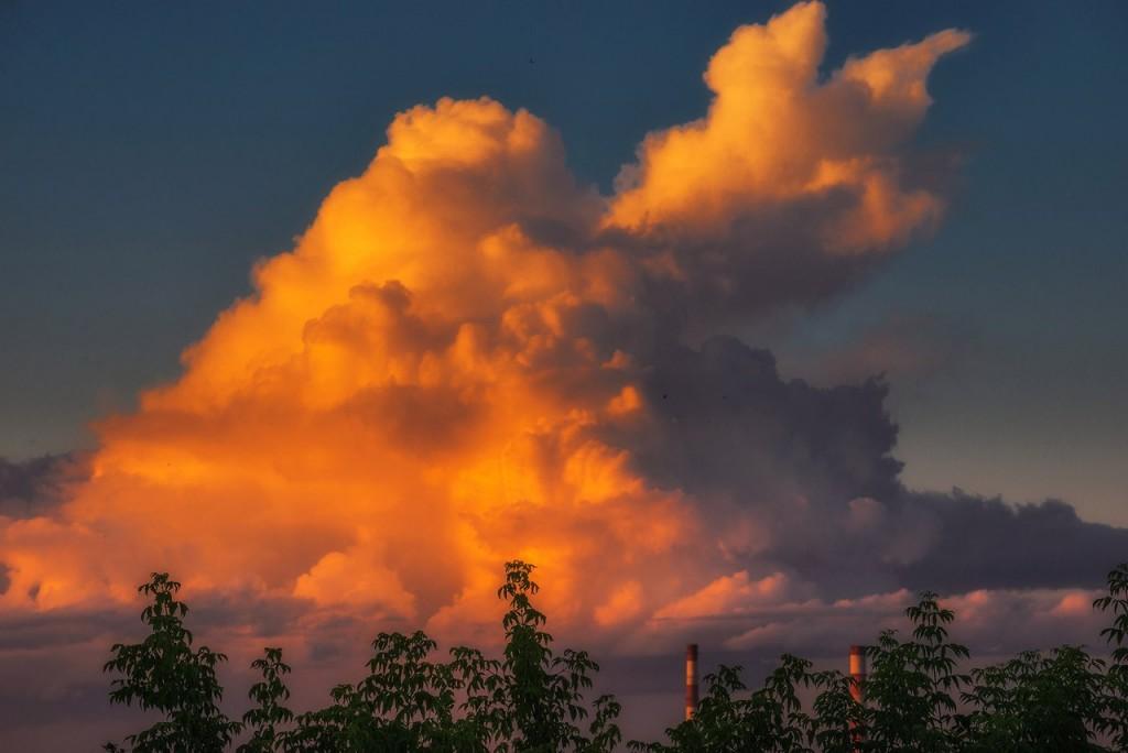 Апельсиновые закаты во Владимире (август 2017) 10