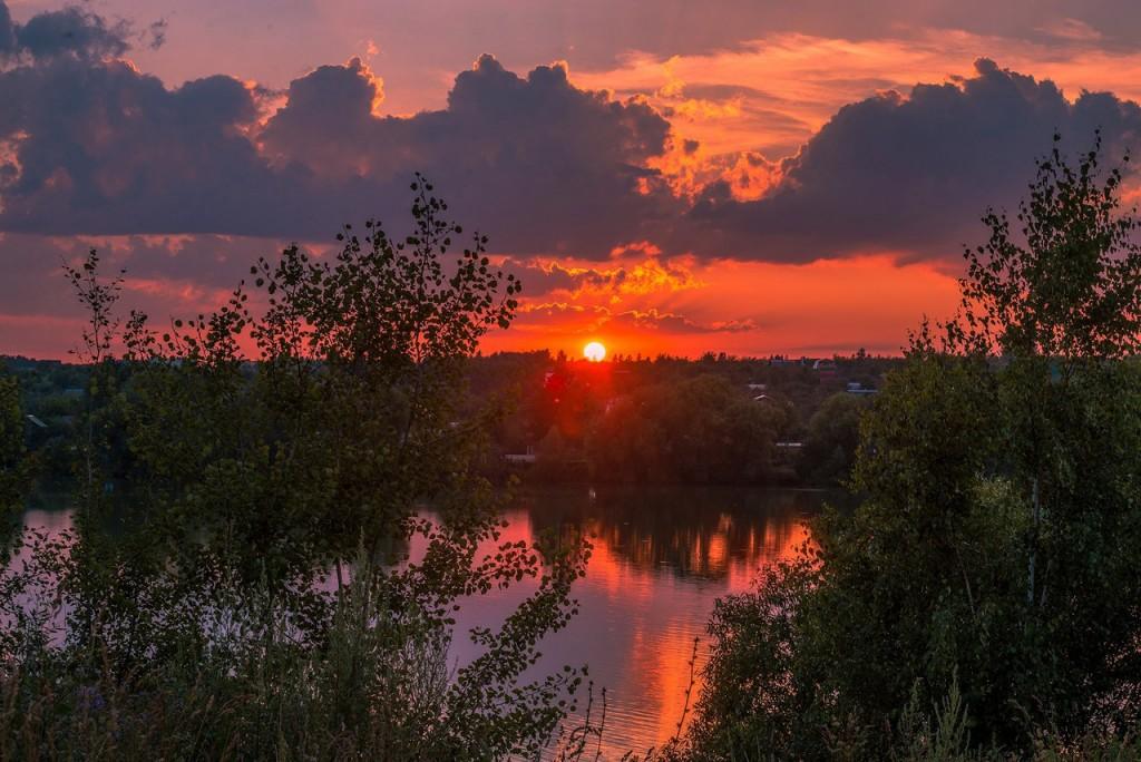 Еще один огненный закат на Содышке (Владимир, август 2017) 05