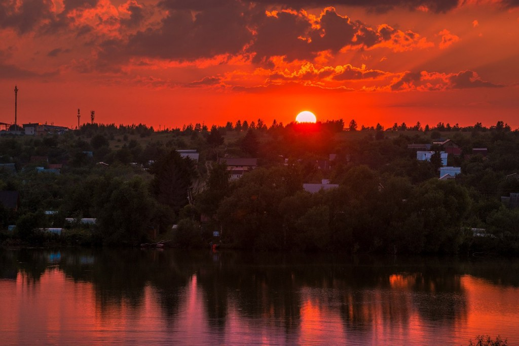 Еще один огненный закат на Содышке (Владимир, август 2017) 07