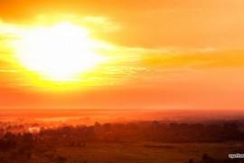 Закат над Вязниками, вид с Венца