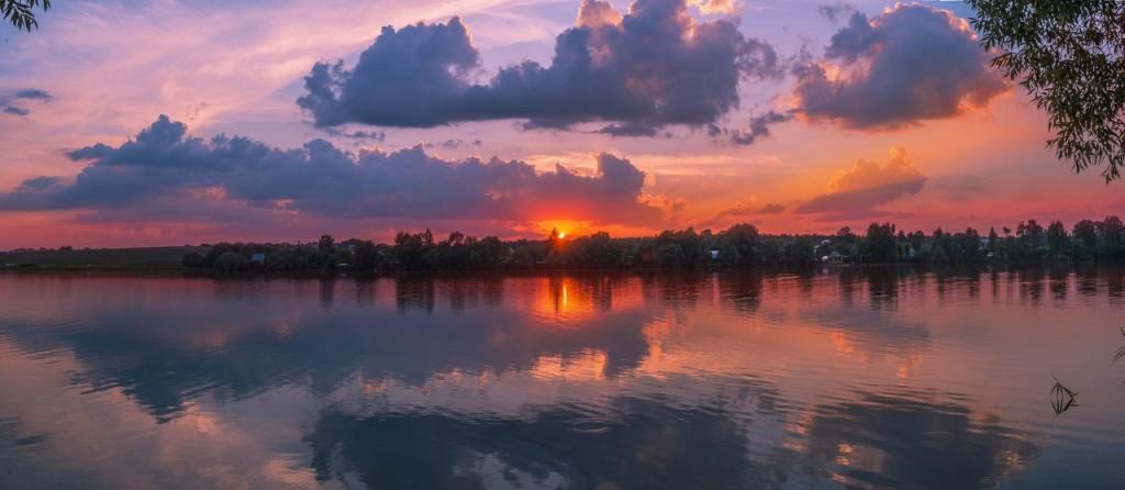 Закат на Содышке (июль, Владимир)