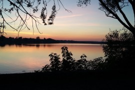 Закат на озере. Гусь-Хрустальный.