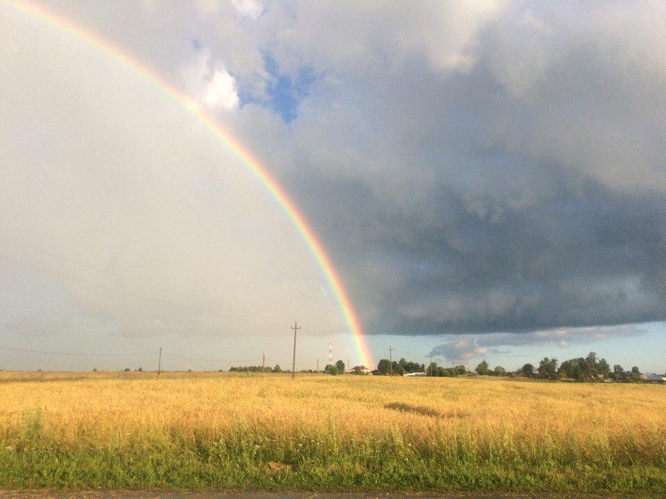 Летняя радуга в Ковровском районе