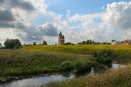 Село Кибол, река Каменка, церковь Флора и Лавра