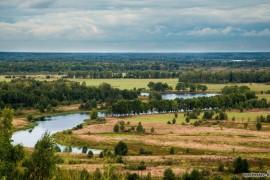Вид на Быковское озеро с Вязниковского венца
